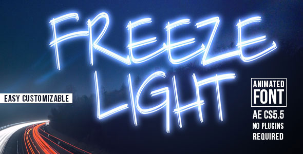 Freeze Light Animated Font