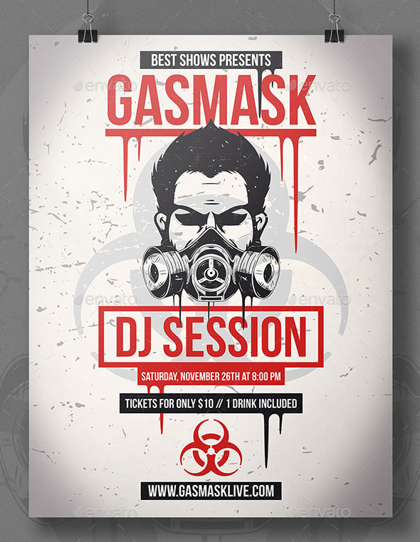 Gas Mask Flyer Template