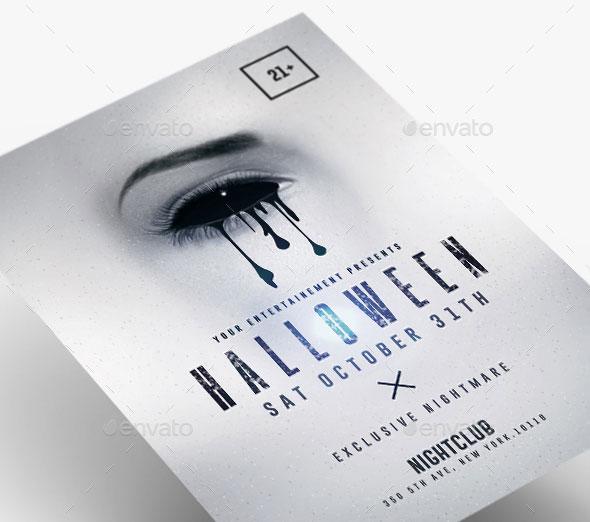 Halloween Minimalist Flyer Party