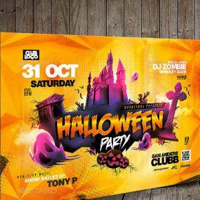 20 Spooktacular Halloween Flyer Template Designs 2017