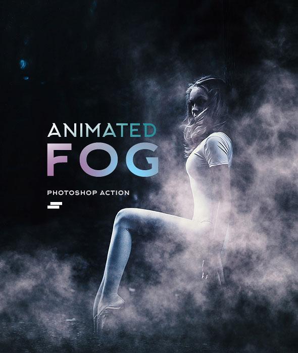 Gif Animated Fog Photoshop Action