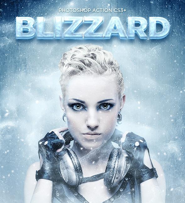 Blizzard Photoshop Action CS3+
