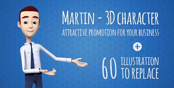 Martin 3D Character - Man Presenter/Manager Product Promotion