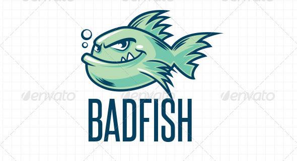 Fish Mascot Vector Logo Template