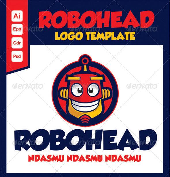 Robot Head Logo Template Robohead