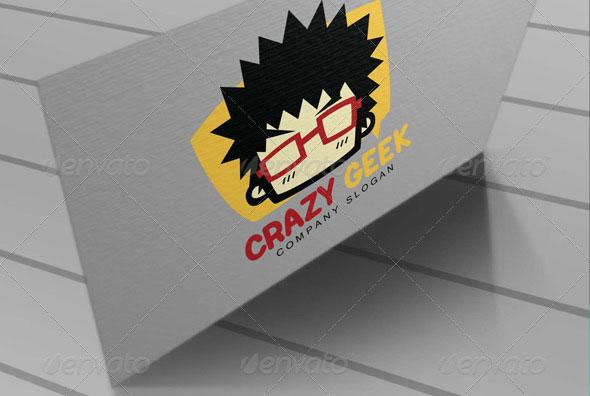 Crazy Geek Logo Tamplate