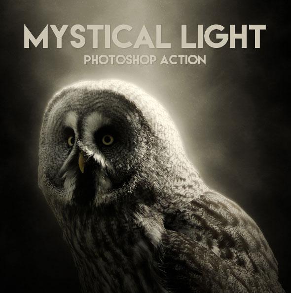 Mystical Light Photoshop Action