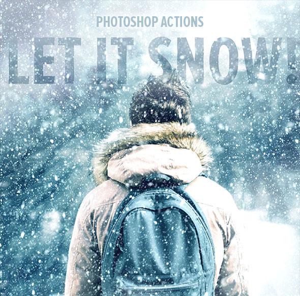 Let It Snow - Photoshop Action