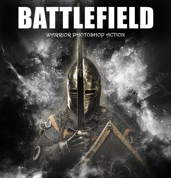Battlefield Warrior Photoshop Action