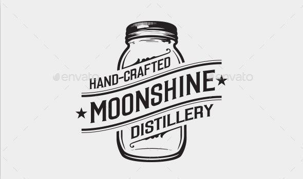 Moonshine Distillery Logo