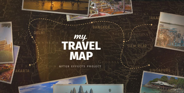Delightful Holiday After Effects Templates Pixel Curse - Make your own travel map