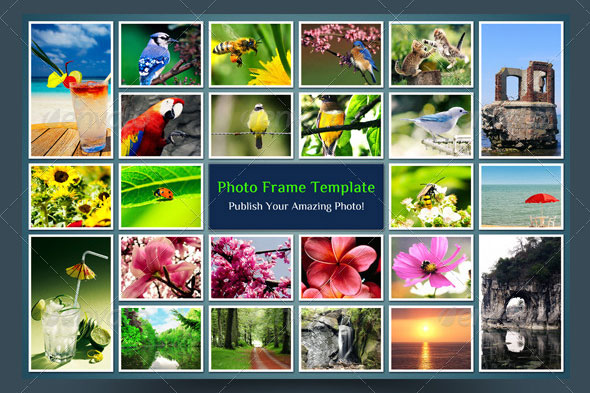 Square Photo Frame Collage
