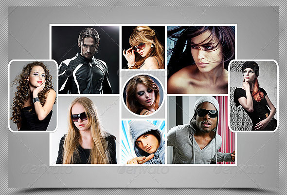 Different Collage Photoframe Template