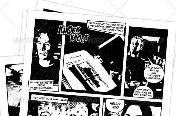 Comic Book Creation Kit Black & White