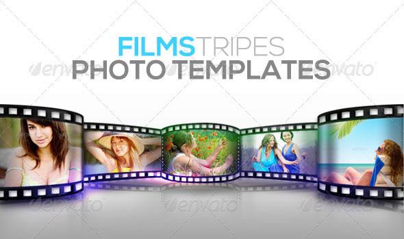 Film Stripes Photo Templates