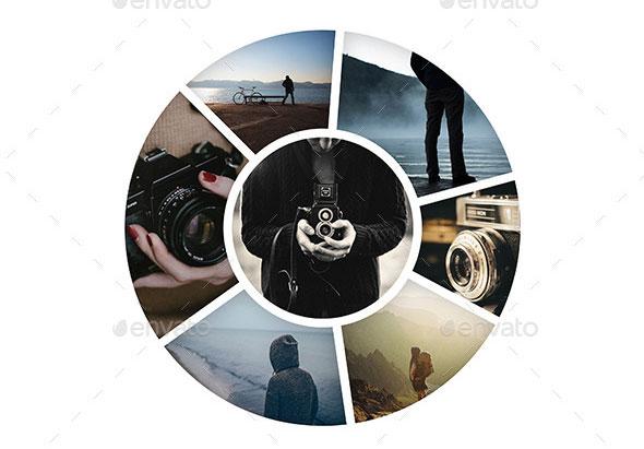 Circle Photo Frame Templates