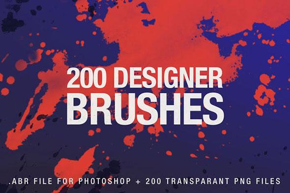 200 Designer Brushes for Photoshop
