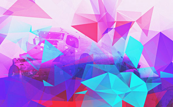 30 Low-Poly / Polygonal Photoshop Brushes #2