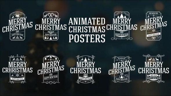 Animated Christmas Posters