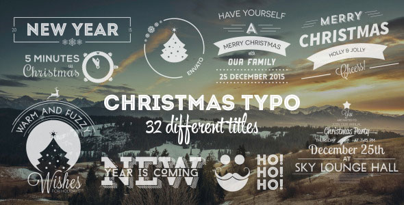 Christmas Typo - Titles, Greetings, Invitations