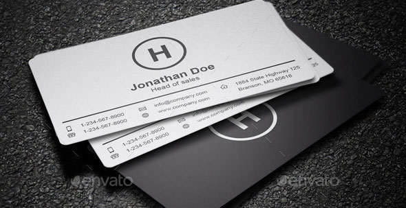 25 minimal business card templates 2017 pixel curse 3 in 1 styles black white business card 14 fbccfo Choice Image