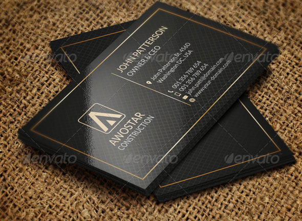 Simple Black & Gold Business Card