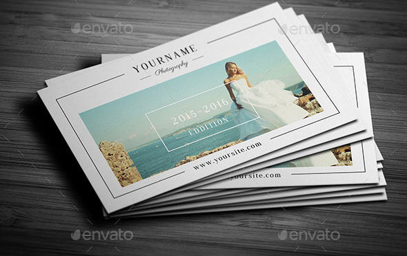Minimal Wedding Photography Business Card