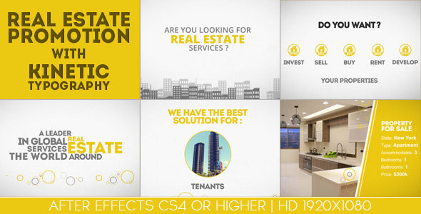 Real Estate Promotion With Kinetic Typography