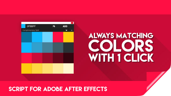 Color Theory for After Effects | Premium Script for finding matching Colors!