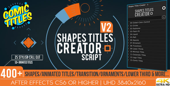 Shapes Titles Creator