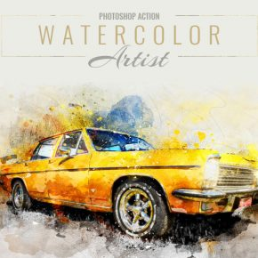 20 Colorful Watercolor Effect Photoshop Actions
