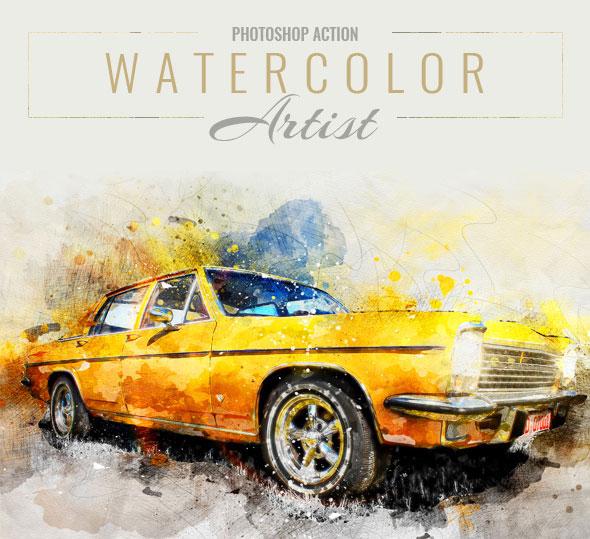 20 Colorful Watercolor Effect Photoshop Actions | Pixel Curse