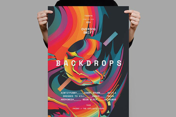 Backdrops Poster / Flyer