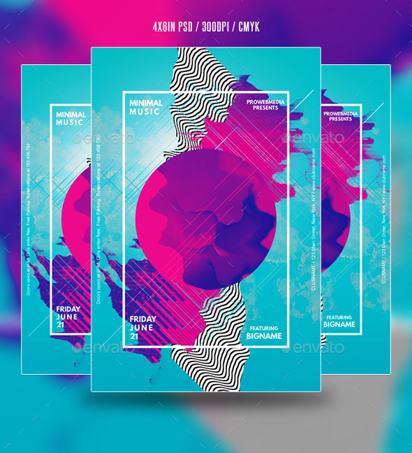 Abstract Minimal Party Flyer