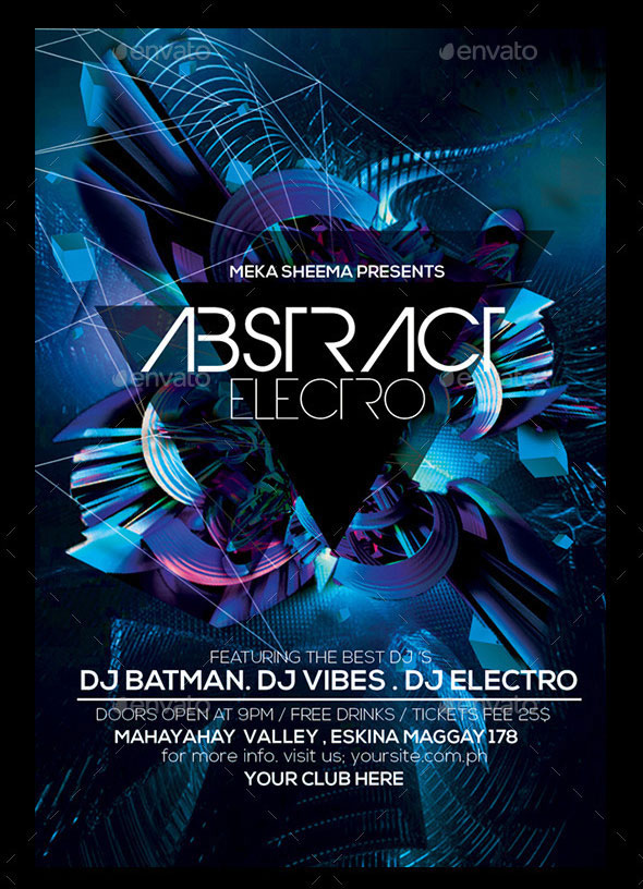 Abstract Electro Flyer
