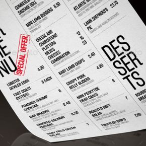25 Beautiful Minimal Restaurant Menu Design Templates