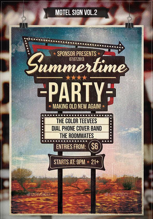 Motel Sign Vol.2 - Flyer & Poster