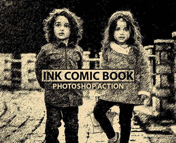 Ink Comic Book Photoshop Action