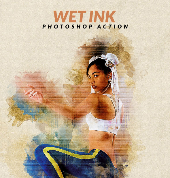 Wet Ink Photoshop Action