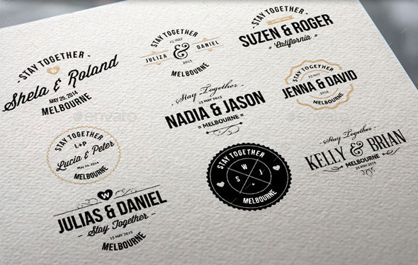Wedding Badge Labels