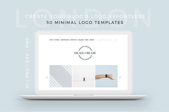 London 50 Minimal Logo Templates