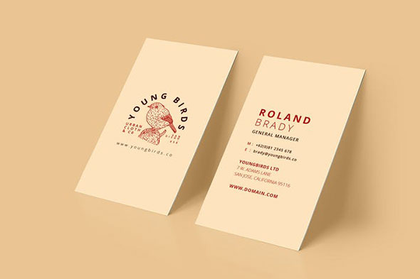 20 minimal retro vintage business card templates pixel curse business card wajeb Choice Image
