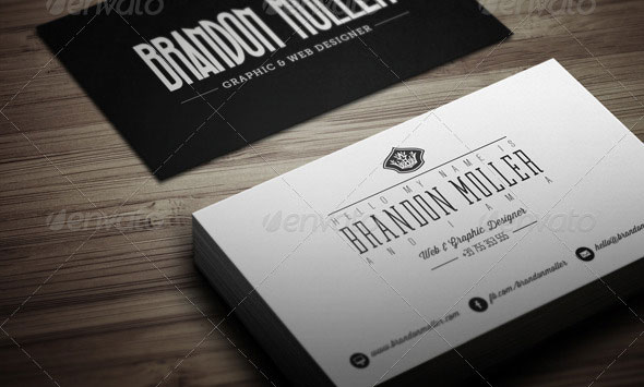 Creative Retro Business Card 3