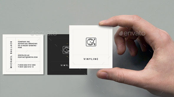 Simple Retro Square Business Card