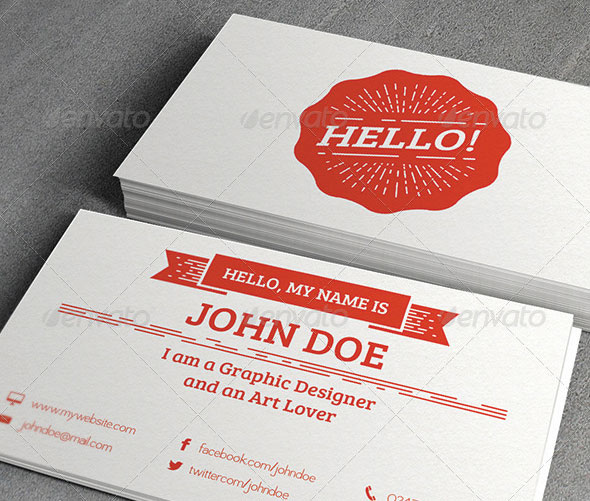 Stylish Retro Business Card