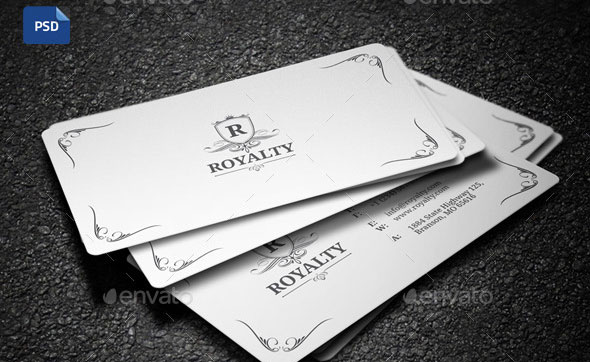 2 in 1 Black & White Business Card - 58