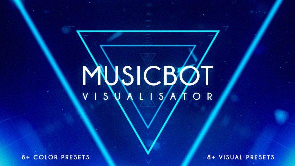 Musicbot Visualisator and Audio React Background Creator
