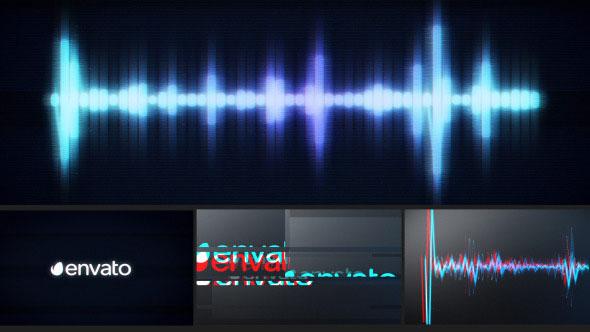 Glitch Logo Music Visualizer