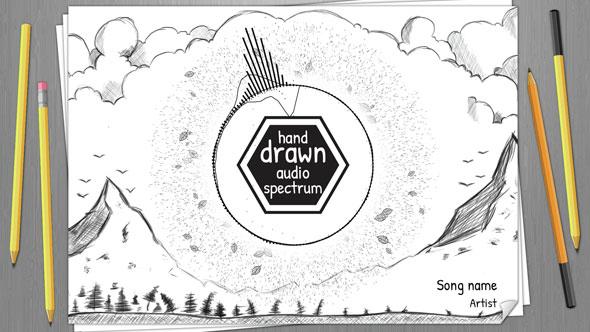 Hand Drawn Audio Spectrum Music Visualizer