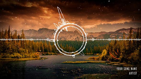 Clean Audio Spectrum Music Visualizer
